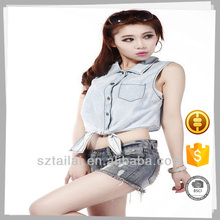 Made in China Latest design Custom Cotton sexy blouse