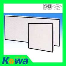 Kowa air filter supplier fiberglass panel type air filter and H12 H13 H14 Hepa