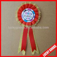 happy birthday fabric flower brooch corsage