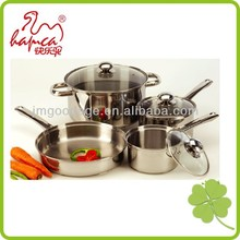 7Pcs Look Wmf Stainless Steel Cookware