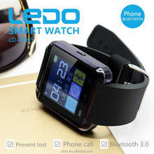 LEDO 1.44 inch Smartwatch cheap bluetooth watch for iphone touch screen TFT lcd smart watch mobile phone white