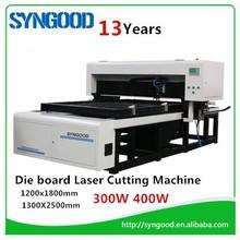 Die Wood Board Laser Cutting Machine 35m/hour SG1218 CO2 Die Board Laser Cutting Machine 18mm 22mm 23mm MDF