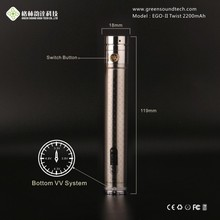 Best eCig Huge Vapor ego vaporizer pen ego twist gs 2200mah latest electronic cigarette ego battery connector