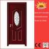 Popular design glass window wooden door SC-W062
