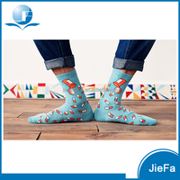 men's funcy design cotton polyester nylon bamboo woollen printing jacquard daily wear anklet ankle bobby sox socks
