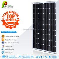 Powerwell 100W Monocrystalline Flexible Solar Panel for caravans golf cars boats with A grade solar cell