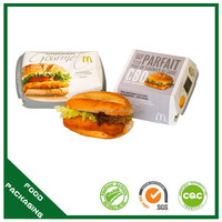top quality disposable safe food burger container for sale
