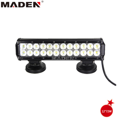 12v led light waterproof driving light 12'' 72w MD-8202-72