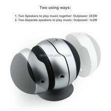 ball shape active speaker computer rechargeable twins 2.0 tw ways round bluetooth speaker with usb charger