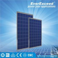 EverExceed 100W Polycrystalline Solar Panel made of Grade A solar cell for grid-on/off solar system