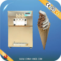BXR-1238 Commercial Capacity of freezing cylinder is 1.9L*2 ice cream machine double hopper with 3 flavors