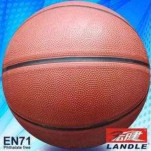 Rubber made new style colorful official size basketball promotional butyl basketball