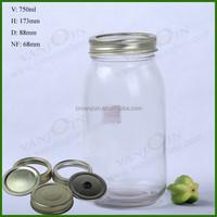 Bulk Mason 750ml Storage Jar Glass With Screw Cap