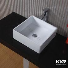 Piccole dimensioni bagno lavello quadrato, solid surface lavandino del bagno