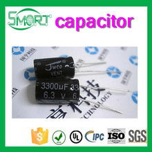 Smart bes High quality Electrolytic capacitor 6.3V 3300UF 10*17MM, capacitor for wash machine