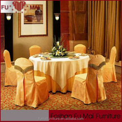 Guangdong factories wedding decoration chair covers and table covers/types of hotel chair covers