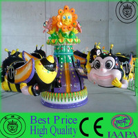 Fantastic And Interesting Outdoor Attraction New Design Kiddie Play Ride Rotary Honey Bee