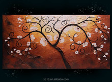 Modern home decor monet tree oil painting new arrival