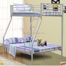 Good quality Cheapest beige color round tube metal bunk bed