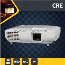 Optical Zoom FULL HD 3D 1080P 3*LED+3*LCD Laptop HDMI USB DVI RS232 vga TV Computer Multimedia Digital Projector
