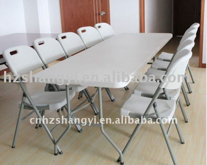 8ft Marble White Plastic Folding Dining Table And Chairs  : 8ft marble white plastic folding dining table from www.alibaba.com size 663 x 527 jpeg 44kB