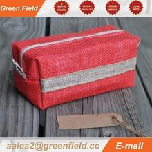 Waterproof cosmetic bag, jute waterproof cosmetic bag