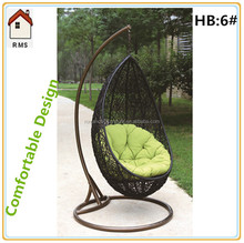 New Model Indoor Funiture Outdoor Furniture Rattan Swing Chair For Selling Hanging Indoor Swing Chairs Rattan Swing Basket HB:6#