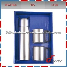 2012 hot selling stainless steel vacuum flask and coffee mug gift set