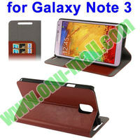 Crazy Horse Pattern Wallet Stand Leather Case for Galaxy Note 3 III / N9000