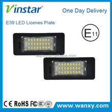 2015 newest car accessories led tail light license plate lamp number light for BMW E39 E60 E82 E90 E93 M3