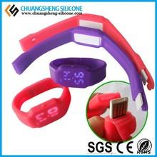 Luxury western LED digital silicone watch bracelet