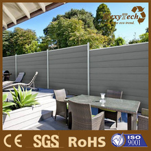 Guangzhou wpc fence with privacy style - popular in Euro and better design than colorbond fence