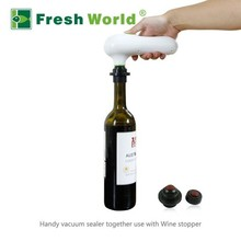 Battery &electric operate snack packing food saver portable vacuum wine sealer with pump