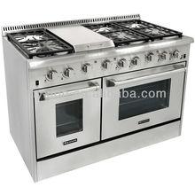 """48"""" 6 Burner Gas Cooker with Ranges,Luxury Indoor Gas Cooking Range"""