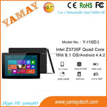 pc tablet china product 10.1 inch 3g wifi intel quad core 2.0/2.0mp camera portable laptop notebook