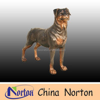 abstract bronze animal sculpture/bronze dog statue NTBA-D061S