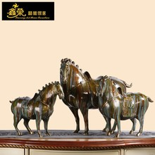 Chinese Tang dynasty bronze horse sculpture for home decoration