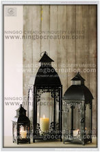 Stylish Hanging or Table Centerpiece Steeple Highgate Metal Candle Lantern With Glass Window for Garden Decoration