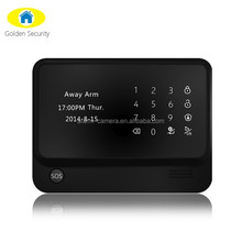 Mtltiple language menu option smart gsm security fire wireless alarm system with long working distance
