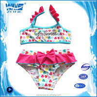 Sexy girls swimming suits with lace design and bow