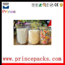 plastic packaging zipper bag, custom reclosable bag, stand up food bag