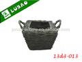 venta al por mayor baratos artesanía hecha a mano de color marrón oscuro pequeño regalo de mimbre cesta de almacenamiento