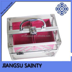 Aluminum frame cheap makeup bags and cases
