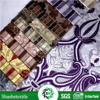 Latest flock floral knit velvet sofa cover fabric