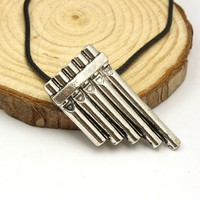 Popular Fashion Movie Jewelry Peter Pan Statement Flute Necklace For Unisex