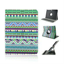 Hot Selling Green National Style Rotating Standing Leather Case For Samsung Galaxy tab 3 10.1 P5200 From Alibaba China