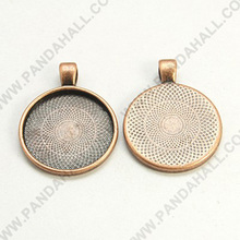 25mm Round Pendant Trays Blank Pendant Cabochon Settings(PALLOY-A15654-R-NF)