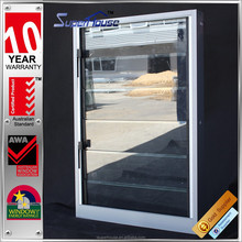 2015 Latest home window design thermally broken grey aluminium windows