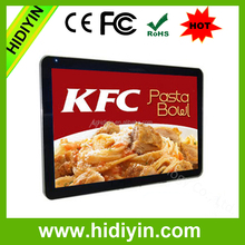 """Full HD wall mount indoor 55"""" LCD internet digital signage, cinema wall type advertising player"""