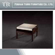 Italian Wooden Base Travertine living room end table